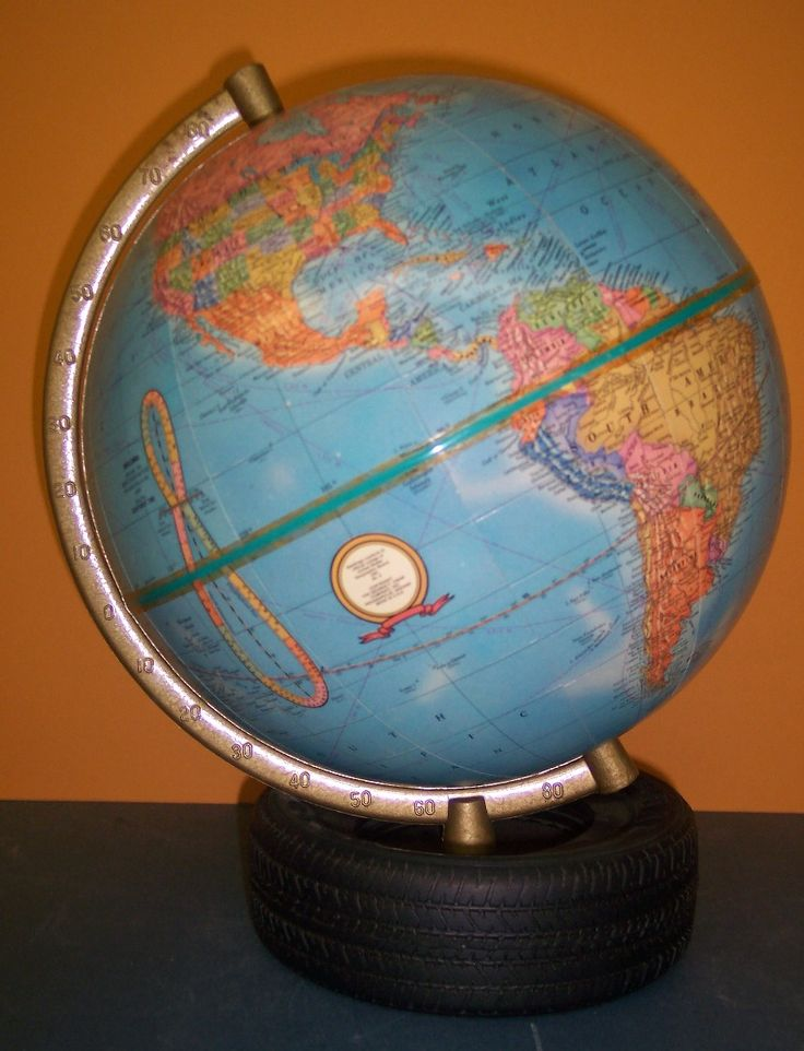 Indianapolis Excellent little globe with highly detailed