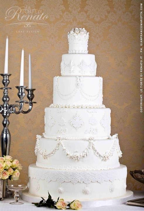 Wedding Cake by Le Torte Di Renato Cake Design - Fairytale Wedding Ideas and Inspiration for the Prince and Princess