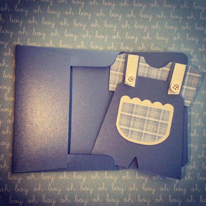 Κάρτα φορμάκι & φάκελος -  It's a boy card