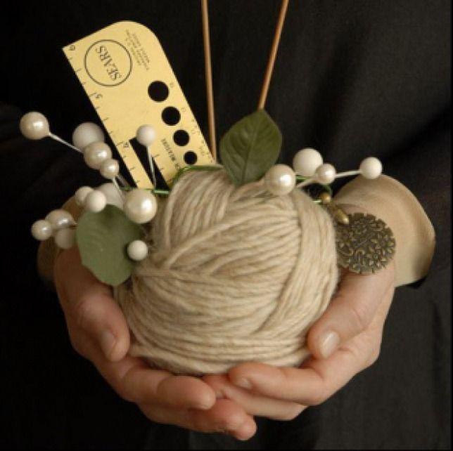 Букетик из клубочков — лучший подарок для рукодельницы - Ярмарка Мастеров - ручная работа, handmade