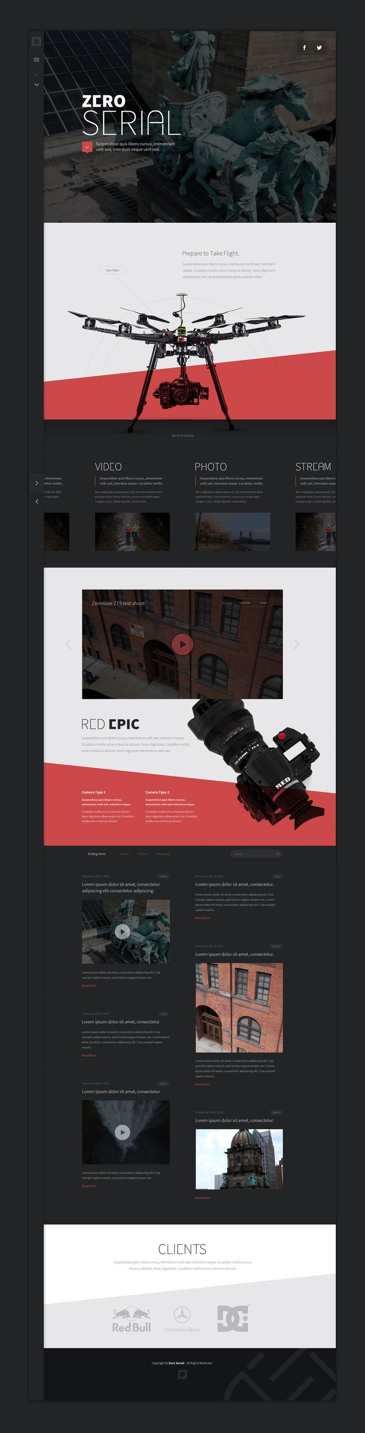 Full Drone Concept #amazing #WebDesign @Peggy Campbell Webster #Design #Responsive #UI #UX #GUI #ResponsveDesign
