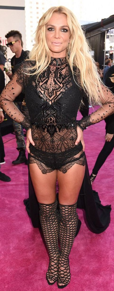 Britney Spears wearing Reem Acra and Jacob and Co