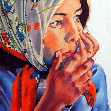 James Campbell   Magda #Painting