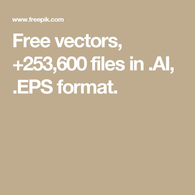 Free vectors, +253,600 files in .AI, .EPS format.