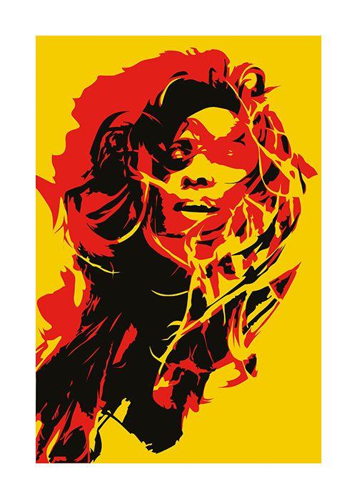 #Poster #Kunstdruck Fine #Art #Print Chao Zhang Flying hair Twenty Four Gallery #twentyfourgallery #illustration #drawing #artprint