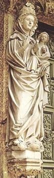 Virgen Blanca de Catedral de Leon escultura gotica