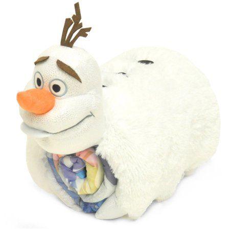 Disney Frozen Olaf 3D Pillow with Sleeping Bag Nap Mat, White