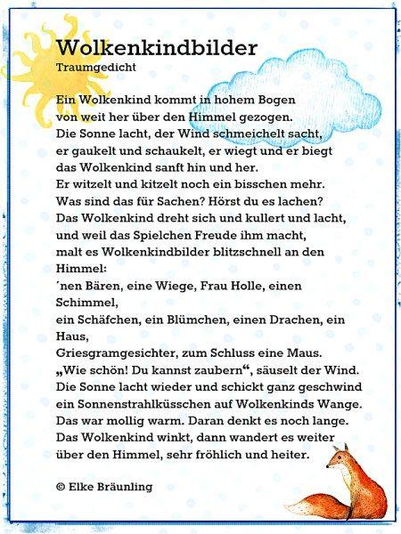 Wolkenkindbilder. Gedicht für Kinder – Märchenfrau
