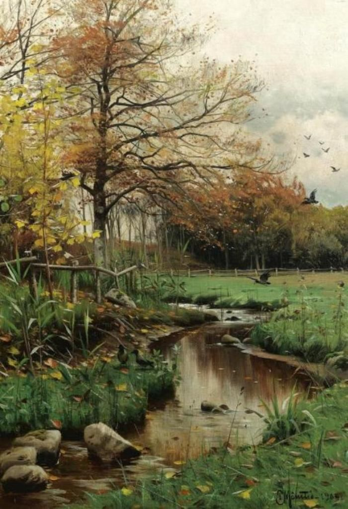 Датский художник Peder Mork Monsted