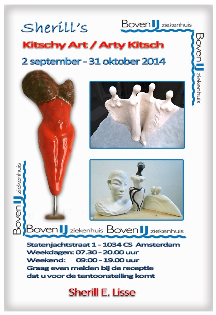 Digital Flyer Exhibition Boven IJ - Ceramics by SherLizz