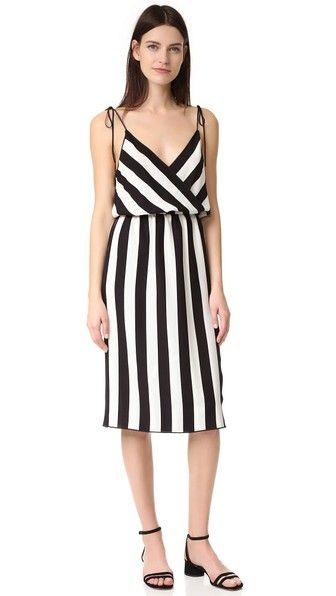 Marc Jacobs Stripe Crossover Cami Dress