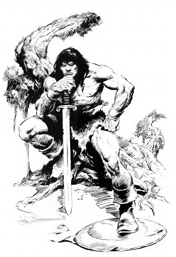 John Buscema (1927 – 2002) Dibujante de historietas estadounidense de gran destreza. Destacó en Marvel Comics y por sus series sobre Conan el bárbaro.