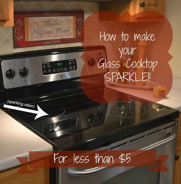 How to clean your glass cooktop.  This is so easy!