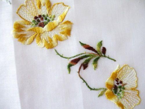 Vintage Handkerchief Switzerland Embroidered