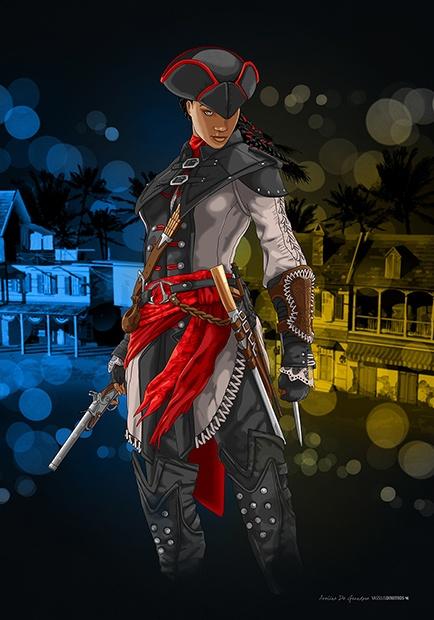 Aveline De Grandpre (New Orleans 1772) Assassin's Creed © Ubisoft