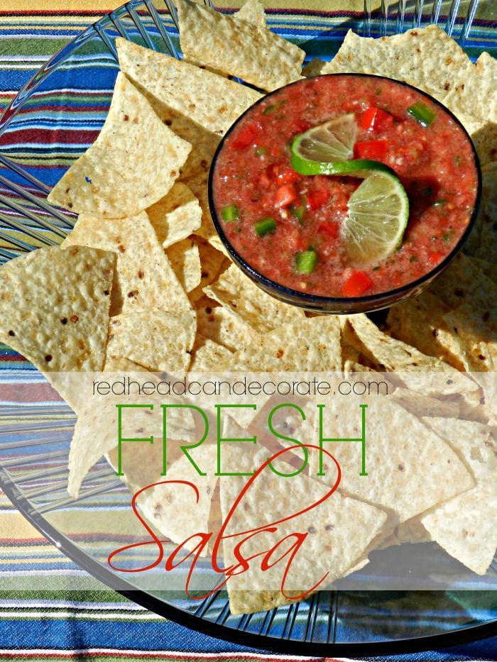 Fresh Salsa Recipe | Debbiedoo's Food Contributor Redhead Can Decorate