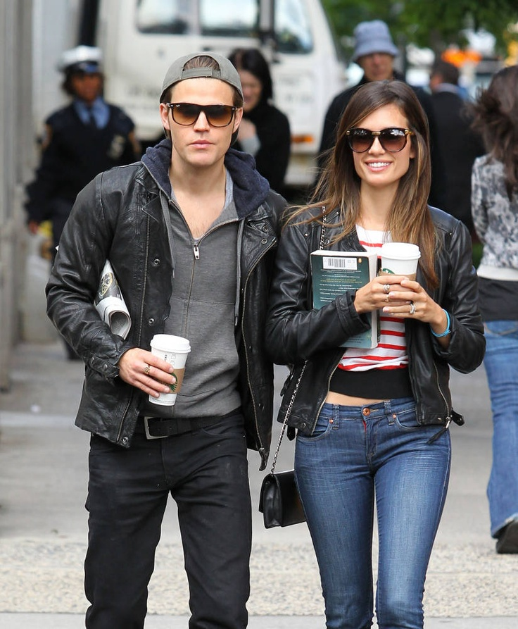 Paul Wesley & Wife Torrey DeVitto's Starbucks-filled NYC Stroll