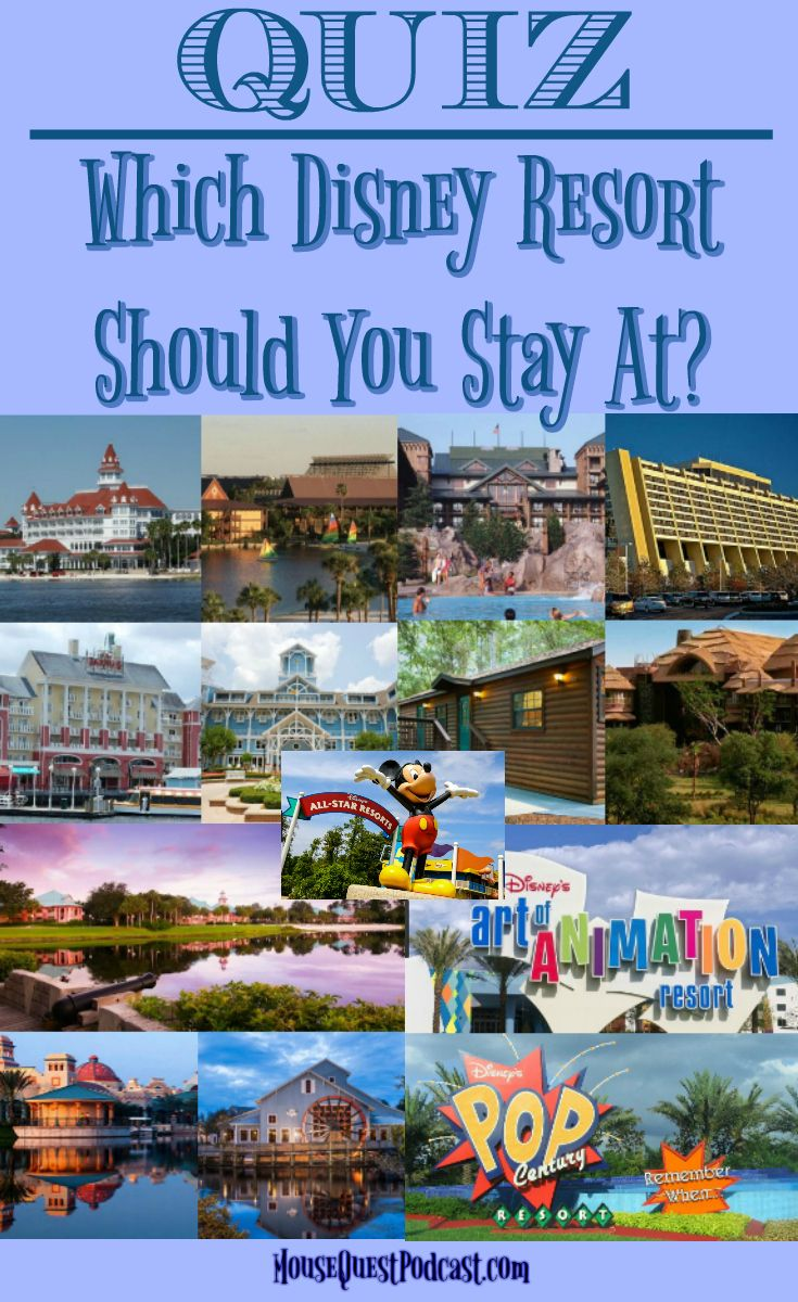 Walt Disney World | Quiz | Resorts | Which resort should I stay at