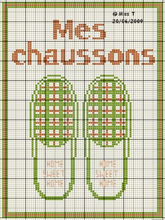 chaussures - shoe - chaussons - point de croix-cross stitch - broderie-embroidery- Blog : http://broderiemimie44.canalblog.com/
