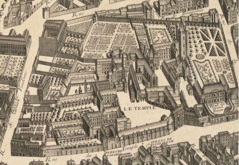 ENCLOS DU TEMPLE ET L'ÉGLISE SAINTE-MARIE-DU-TEMPLE (Paris) (disparus) - Tombes Sépultures dans les cimetières et autres lieux