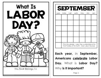 What Is Labor Day?  (A Holiday Reader and Assessment for Primary Children)  10 pages, $  #laborday