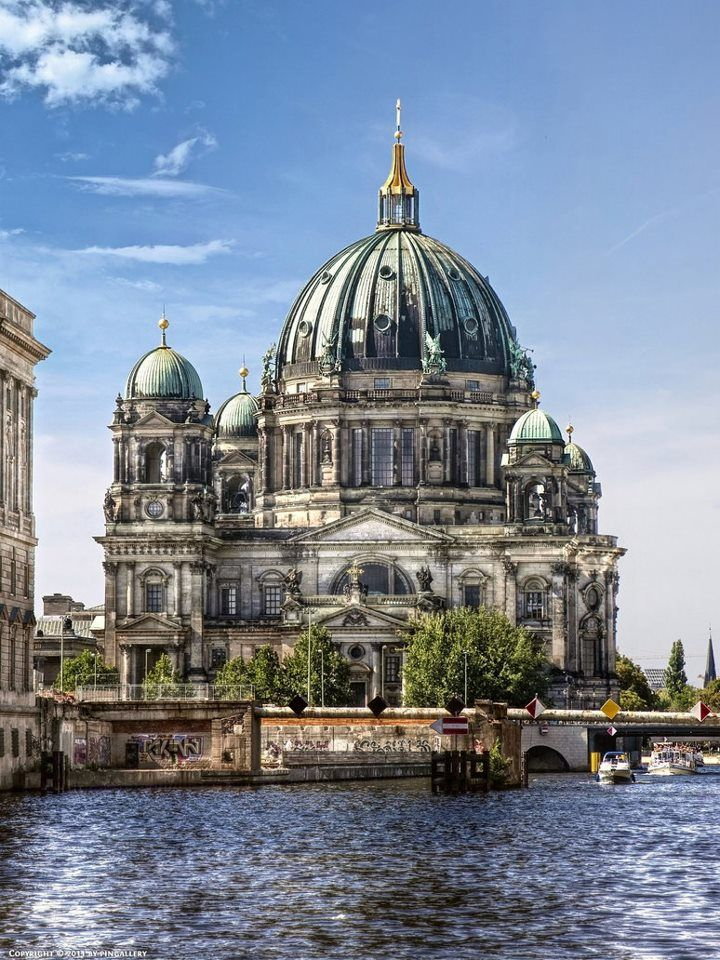 Berlin Cathedral Water Side , Germany