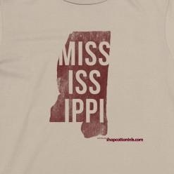 Stacked Mississippi tee in Maroon & Grey!