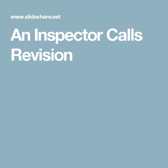english inspector calls coursework An inspector calls by jb priestley - english teaching resources for pre- and post -1914 plays arthur miller, willy russell and alan bennett nestle within the shakespeare collections.