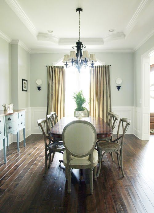 Dining Wall Color Silver Strand By Sherwin Williams Nice Tone That Shifts Between Blue Green And Gray Depending On The Lighting