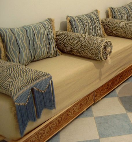 Moroccan Sofas We Recommend Covering The Seat Pad With