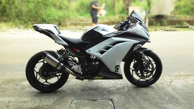 modif ninja 250 fi putih terkeren