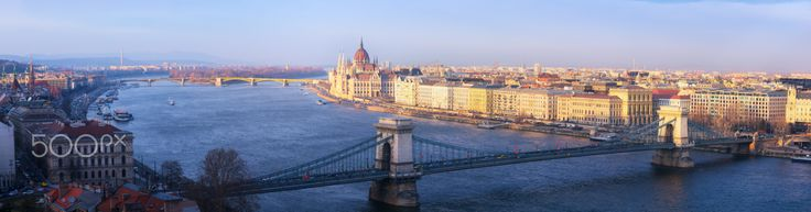 Budapest - The Panoramic view of Budapest City at Gallert Hill