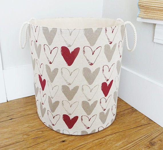 Extra Large Fabric Hamper Laundry Basket Fabric by littlehenstudio