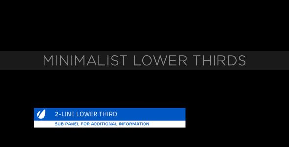 Minimalist Lower Thirds customizable After Effects lower third project template for video.