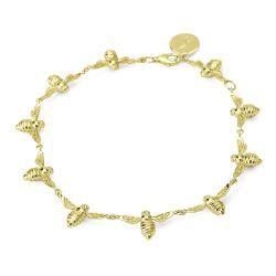 Bowerbird Bee Gold Link Bracelet