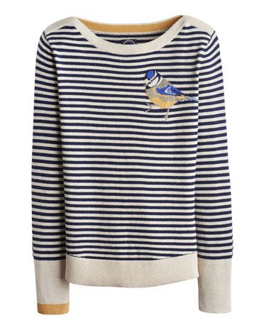 Joules MARSHA Womens Intasia Jumper, Bluetit. Crafted for a super-soft feel and adorned with a cool animal intarsia that is guaranteed to raise a smile whenever it makes an appearance, this jumper is great to add a bit of character to your wardrobe.