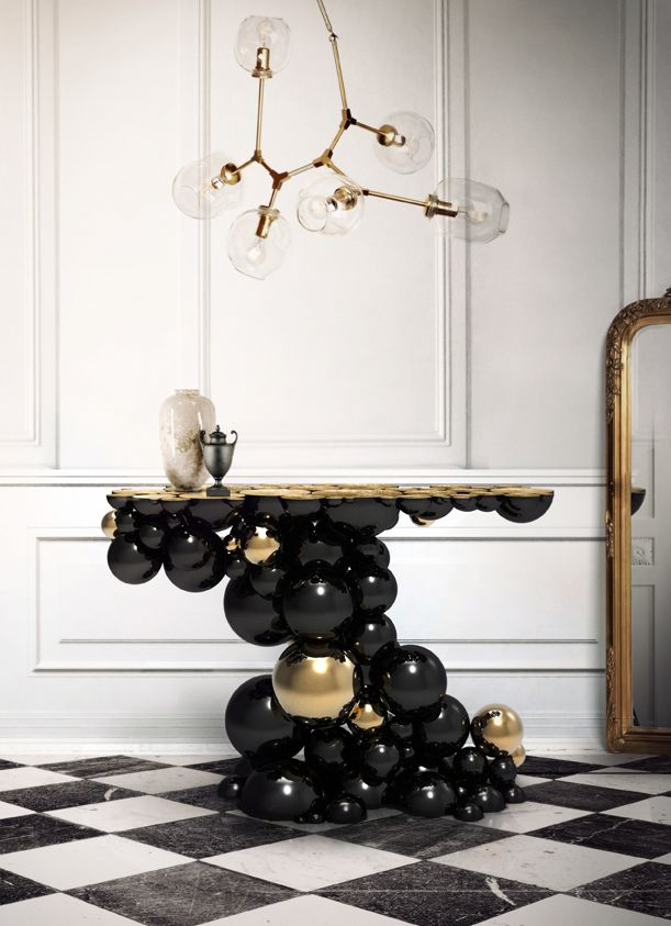 LUXURY BRANDS   Newton Console Table by Boca Do Lobo   Made by the best  artisans. Best 25  Home design furniture ideas on Pinterest   Interior