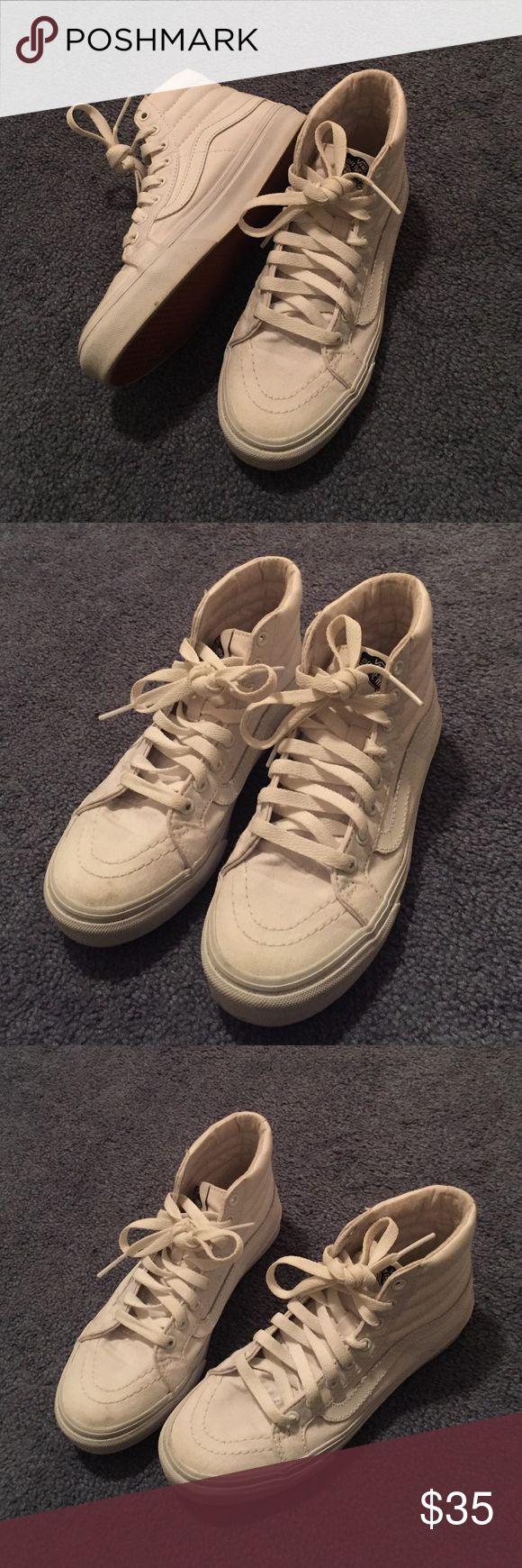White Vans -Skate Highs Vans Shoes Sneakers