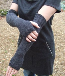 Tuto tricot : mitaines longues