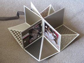 Tamara's Paper Trail: Fold Up Scrap Album Con fotos de assis, tipo anuario