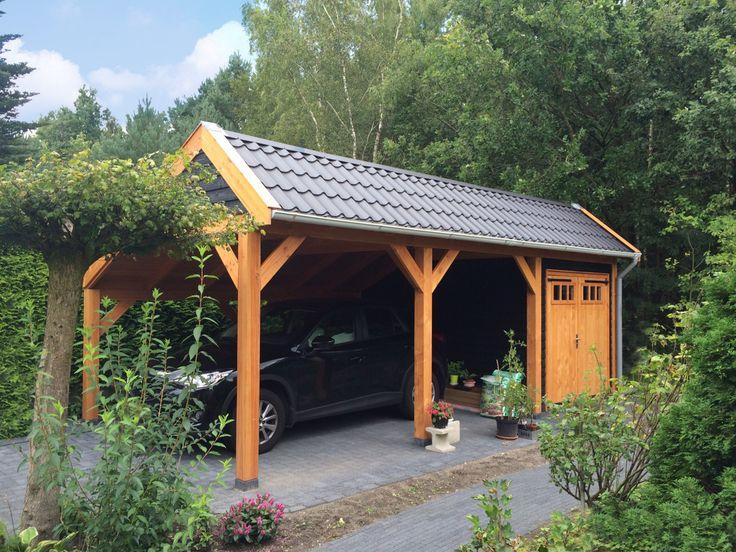 Douglas overkapping / buitenverblijf kapschuur als carport met berging / garage