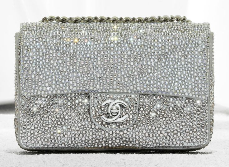 SO beautiful... Chanel 2012 classic flap bag in diamante goatskin