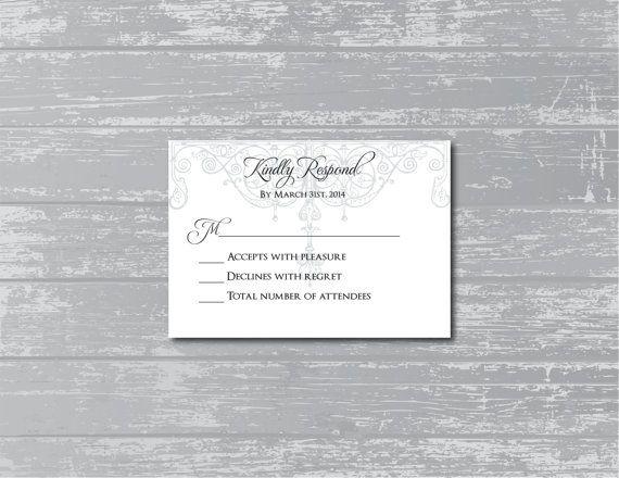 Antique Gate Custom Wedding RSVP Response Card by CreativePapier, $8.00