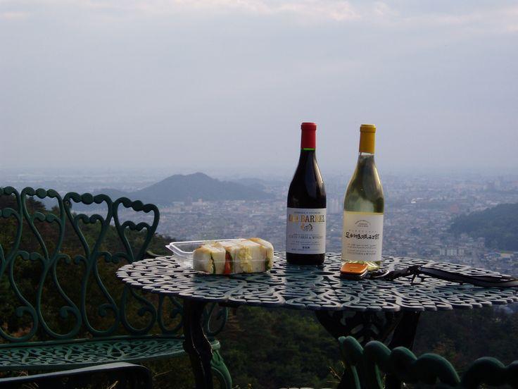 ワイン、サンドイッチ、足利市。 COCO FARM & WINERY / ココ・ファーム ワイナリー。2003.10.26