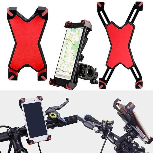Universal Anti Slip Bike Phone Holder On Mountain Bicycle