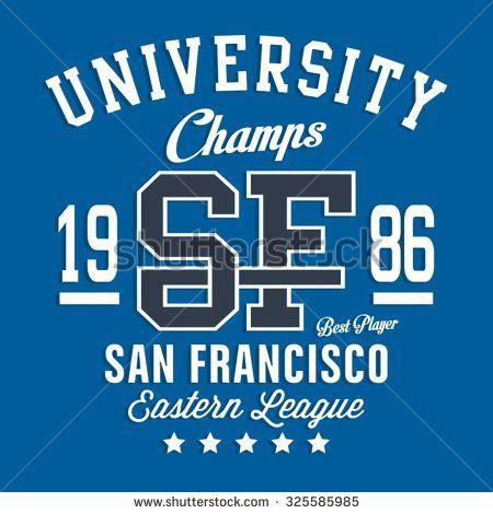 San Francisco sport typography, t-shirt graphics, vectors