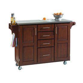 Home Styles 52.5-In L X 18-In W X 35.75-In H Medium Cherry Kitchen Isl