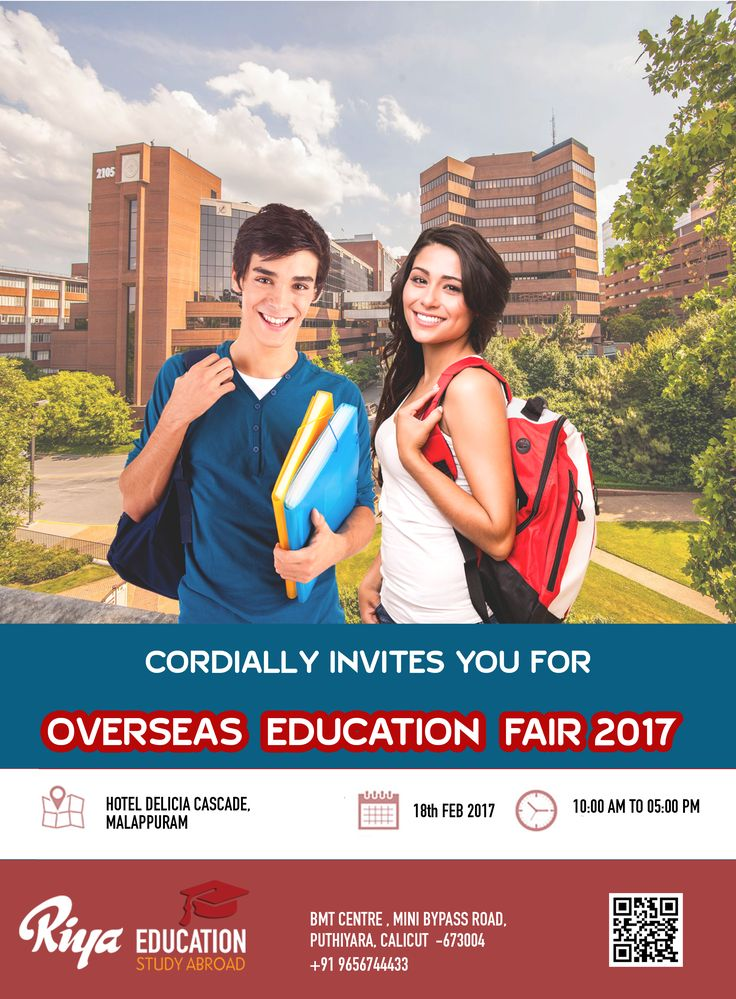 Riya Education cordially invites you for the Overseas Education Fair 2017 on 18th Feb 2017 at Malappuram. Visit our website http://riyaeducation.com/contact/
