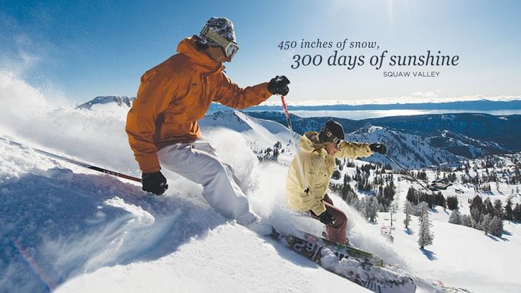 Squaw Valley Ski Resort -- Squaw Valley, CA. Discover Lake Tahoe ski resorts at TahoeActivities.com