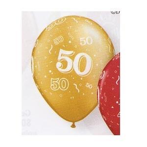 "50th Anniversary 11"" Balloon (all around print) 10/pkg"
